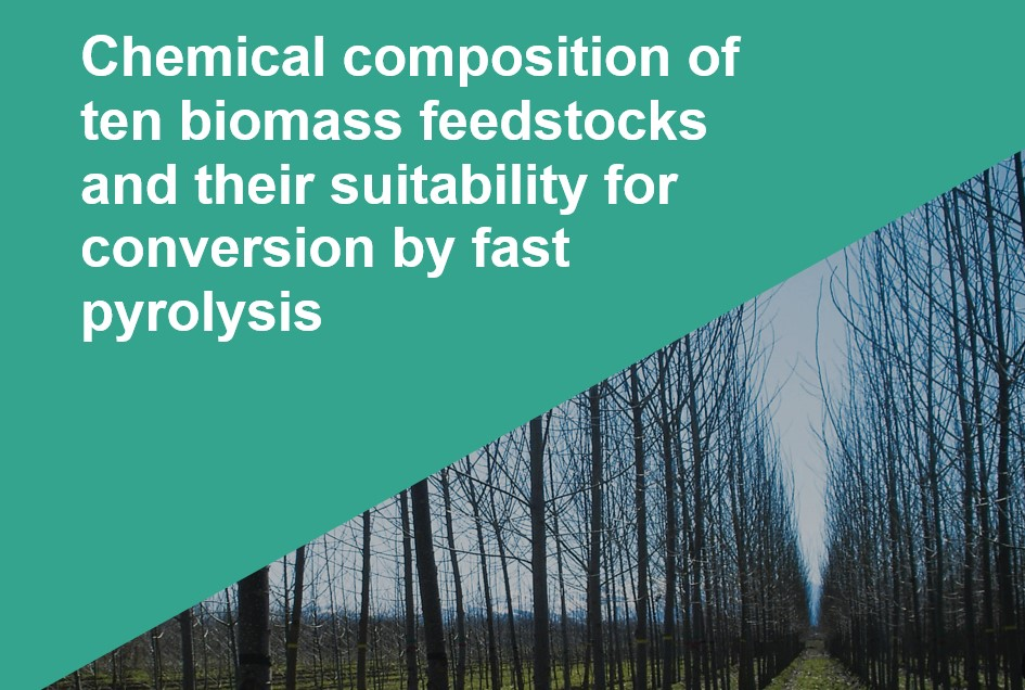 Study: top feedstocks for pyrolysis biorefinery